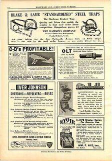 1935 AD Blake & Lamb Steel Leg Hold Traps Hawkins Co