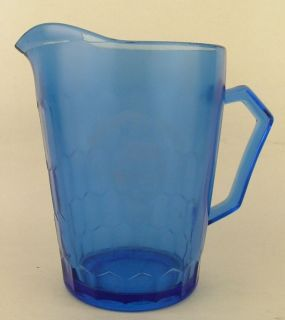 1930s Hazel Atlas Cobalt Glass Shirley Temple Pitcher
