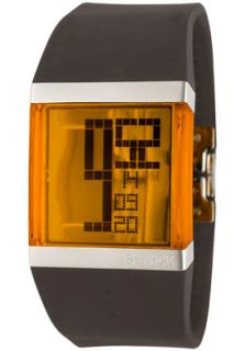 Philippe Starck PH1097 Watches,Mens LCD Digital Orange Dial Grey