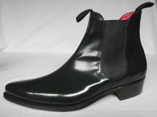 Joseph Cheaney MTO Dark Green Retro Beatles Pull On Boots UK 11 F