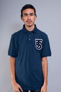 NEW MENS TRIPLE FIVE 5 SOUL HIP HOP NEW YORK NAVY BLUE POLO SHIRT SIZE