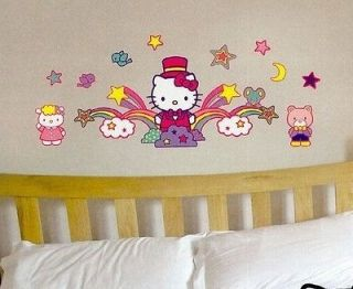 HELLO KITTY wall stickers 62 decals Shooting Star Moon colorful room