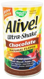 Buy Natures Way   Alive Soy Protein Ultra Shake Whole Food Energizer