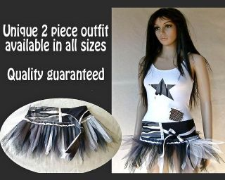PIECE TUTU OUTFIT   HIP HOP URBAN STREET DANCE   FANCY DRESS COSTUME