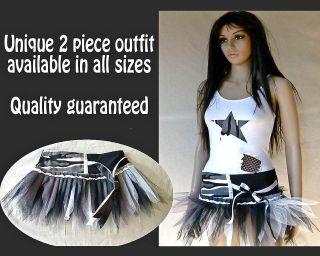 PIECE TUTU OUTFIT   HIP HOP URBAN STREET DANCE   FANCY DRESS COSTUME