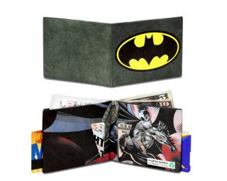 Dynomighty Black Batman Eco Friendly Recyclable Green Tyvek Wallet