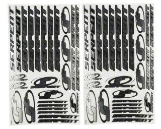 Serpent 1/10 Decal Sheet (Chrome) (2) [SER1888]  Stickers & Decals