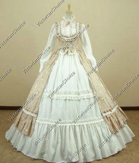 Victorian Gothic Lolita Dress Ball Gown Prom Steampunk Punk D190 XL