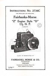 Fairbanks Morse Z D 1 1/2 HP Hit & Miss Engine Manual
