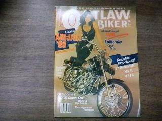 Outlaw Biker Magazine Knuckle Knockouts 37 Sidehack December 1988