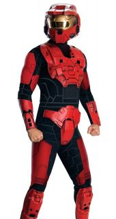 Adult Mens Halo 3 Red Spartan Cosplay Halloween Costume