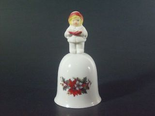 Vintage 1988 Christmas Dinner Hand Bell Choir Collector White