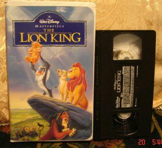 Walt Disneys The Lion King Masterpiece Edition VHS Ship 1 VHS $3 Ship