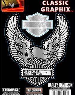 HARLEY DAVIDSON CHROME B&S EAGLE CHROME HARLEY DECAL