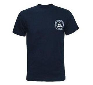 GRACIE ACADEMY JIU JITSU MMA SHIRT NAVY BLUE SIZES S, M, L, XL, 2XL