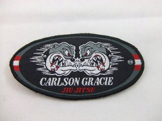 CARLSON GRACIE JIU JITSU OVAL PATCH LARGE BJJ MMA VALE TUDO FIGHT JUDO