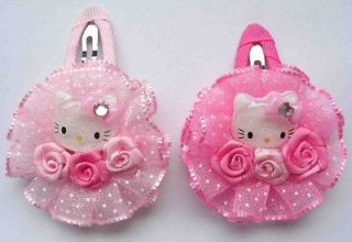 Kitty Flower Color baby girl hair clip Pin bow 2 Inch Wholesale #5