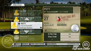 Tiger Woods PGA Tour 09 Sony Playstation 3, 2008