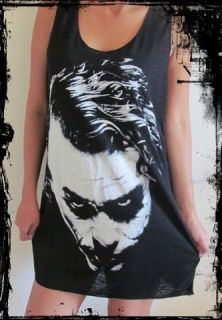 Heath Ledger Joker Vest** Free Size Tank Top Singlet T Shirt