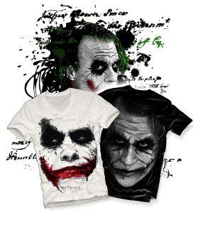 man t shirt JOKER Shadow Heath Ledger BATMAN v neck longsleeve
