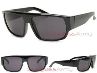 Blackd Out SUPER DARK LENS Oversized GANGSTER LOC Sunglasses cholo