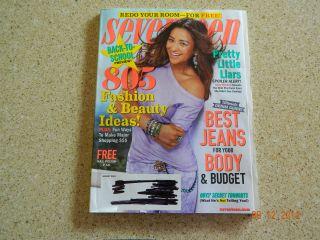 SEVENTEEN MAGAZINE AUGUST 2012 NEW