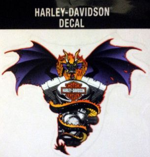 HARLEY DAVIDSON RARE BAT WING DRAGON DECAL 6 INCH DECAL
