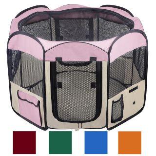 Door Pet Dog Cat Tent Puppy Playpen Exercise Guinea Pig Crate w Bag S
