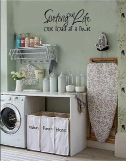 Sorting Out Life One Load At A Time Laundry Room Vinyl Decal Stickers