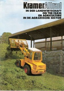 Farm Equipment Brochure   Kramer Allrad   Wheel Loader Fork Lift