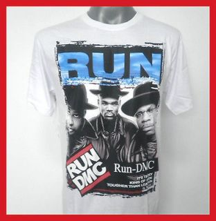 RUN DMC HIP HOP RAP ROCK T SHIRT WHITE SIZE Medium