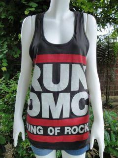 RUN DMC King Of Rock Tank Top T Shirt S/M