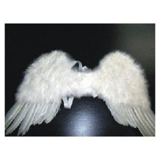 CHILD WHITE FEATHER FAIRY ANGEL WINGS WEDDING COSTUME