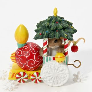 CHARMING TAILS Christmas 4023647 ORNAMENT EXPRESS MOUSE