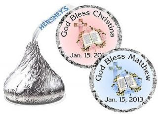 324 BAPTISM CHRISTENING PARTY FAVORS HERSHEY KISS LABELS