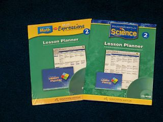Science 2 and Math 2 Lesson Planner by Houghton Mifflin