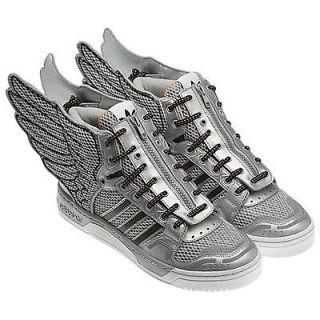 Adidas Jeremy Scott JS Wing Shoes 2.0 Silver Black Mesh Metal Shoes