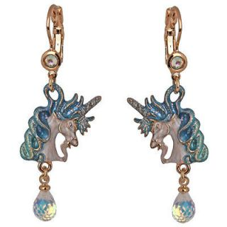 NEW KIRKS FOLLY CLOUDWALKER DREAMS PEGASUS UNICORN LEVERBACK EARRINGS