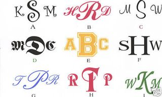 LARGER NAME MONOGRAM INITIAL DECALS Stickers AUTO CAR LAPTOP 5 x 7