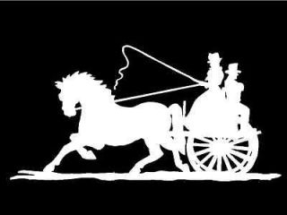 Old Fashioned Horsedrawn Carriage Car Truck Window Vinyl Decal Graphic