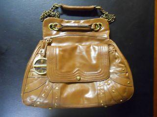 Hayden Harnett for Target Brown Faux Leather Handbag Chain Bag
