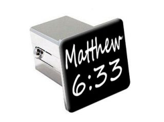 33   Christian Bible Verse   2 Chrome Tow Hitch Cover Plug Insert