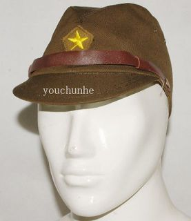 WWII WW2 JAPANESE ARMY IJA OFFICER FIELD WOOL CAP HAT M  32145