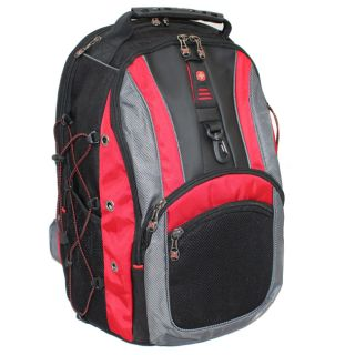 Wenger SwissGear THE HUDSON II 16 inch Laptop Computer Backpack   Red