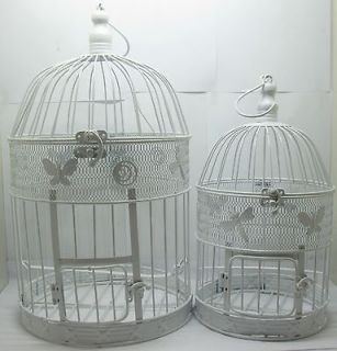 1Set White Round Flying Butterfly Luxury Hanging Bird Cage
