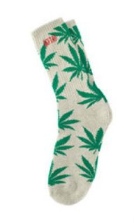 HUF HIGH TIMES PLANTLIFE CREW SOCK HEMP GREEN 420 SUPREME NIKE SB DQM