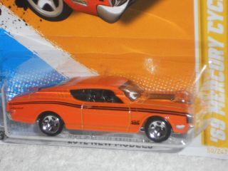 Hot Wheels 2012 New Models 50/50   69 Mercury Cyclone   Orange U.S