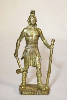PONTIAC INDIAN WARRIOR KINDER SURPRISE VINTAGE LEAD SOLDIER GILDED TOY