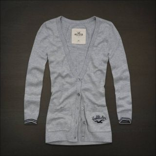 HOLLISTER by ABERCROMBIE & FITCH A&F Grey Sweater Cardigan Medium