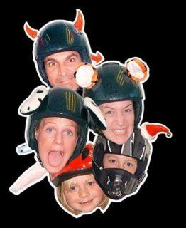 Crew Helmet Ears & Tail   Ski, Snowboard or Motorbike Helmet Ears
